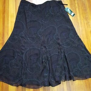 Ralph Lauren paisley skirt.